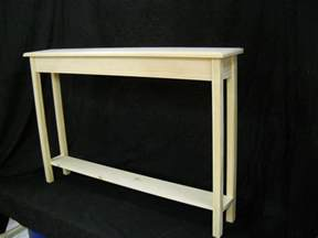 Thin Hallway Table Unfinished 46 Quot Narrow Console Sofa Foyer Beveled Edge Pine Table W Shelf Ebay