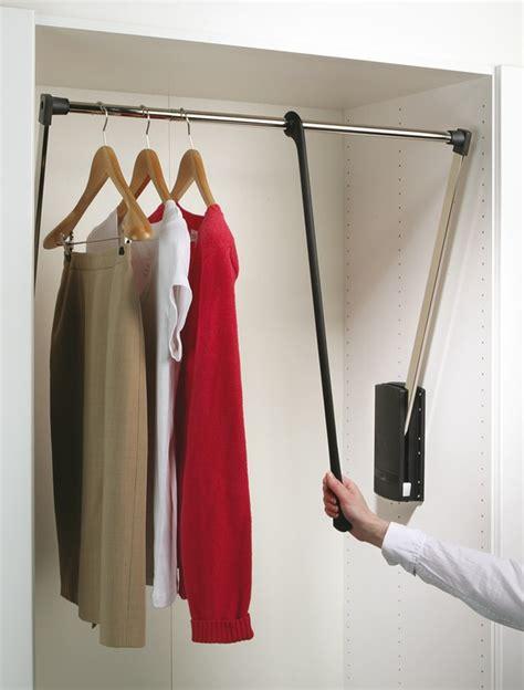 wardrobe accessories hafele servetto pull out wardrobe rail 10kg