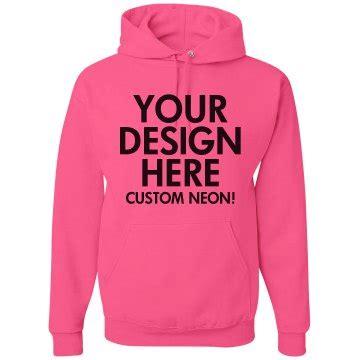 Custom Sweater Hoodie Jumper Sablon Sweater Sablon Hoodie Jumper be bold and bright with custom neon shirts
