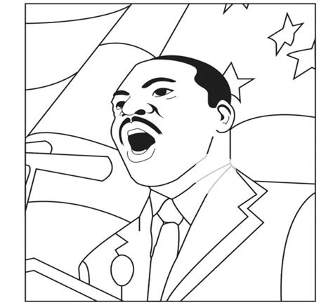 spectacular martin luther king coloring pages with mlk and