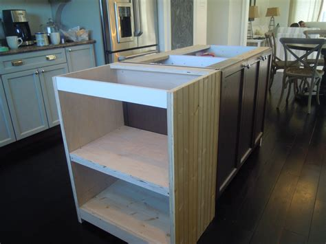 white wood kitchen island extension details and
