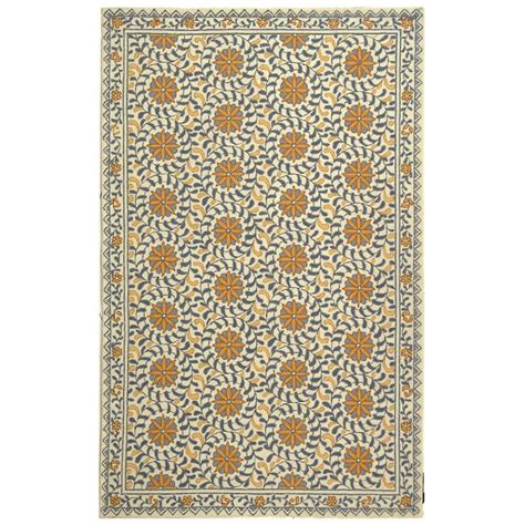 8 X 9 Area Rugs Safavieh Chelsea Ivory Blue 7 Ft 9 In X 9 Ft 9 In Area Rug Hk150a 8 The Home Depot