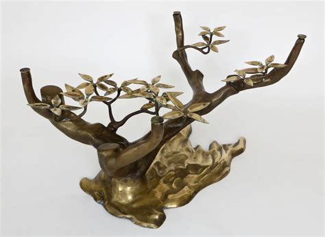 bonsai coffee table bronze and brass bonsai coffee table with glass plateau by