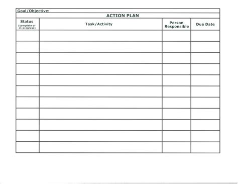 sle project action plan template in excel exceltemp