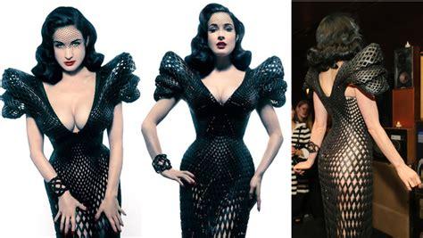 Dress Printing Dhita 3d print fashion designer bitonti announces 3d printed