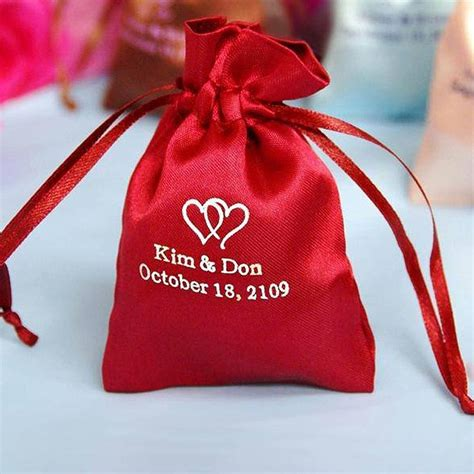 Personalized Pouch 100 pack 3x4 quot personalized satin drawstring favor gift pouch can