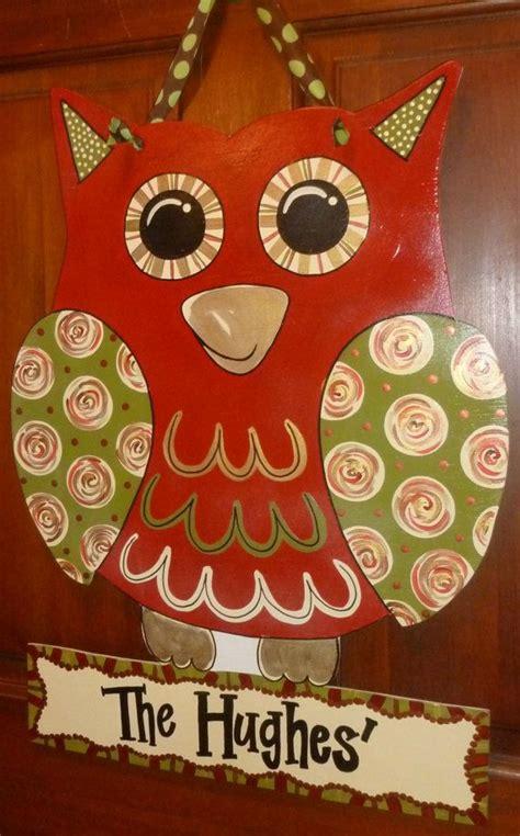 Handmade Door Hangers - large handmade wooden owl door hangers wall hangers