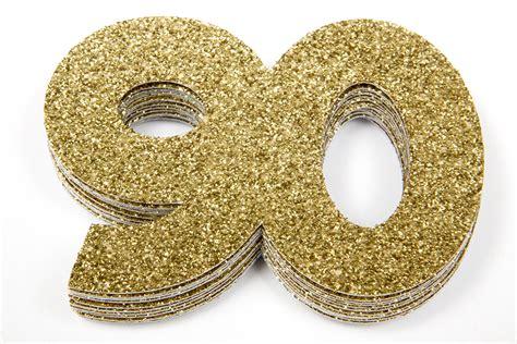 90th birthday confetti 90th anniversary confetti
