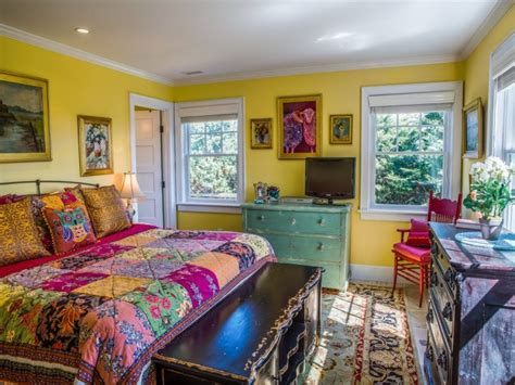 colorful bedroom furniture a whimsical oceanside cottage with colorful interiors