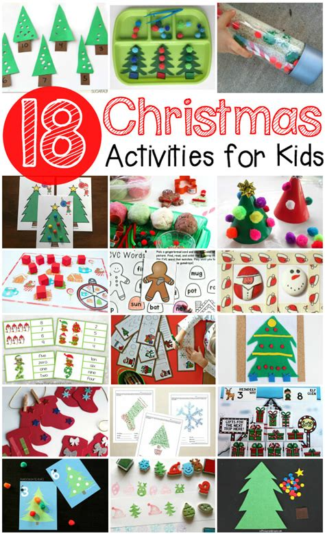 christmas activities for kids free prewriting practice themed