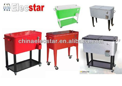 stainless steel beverage cooler cart patio ice cooler beverage cart modern patio outdoor
