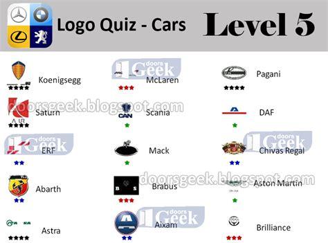 Auto Logo Quiz Level 5 by Logo Quiz Cars Level 5 Answers Doors Geek