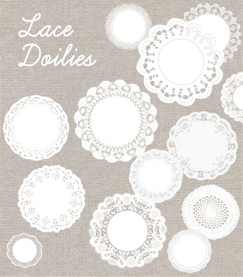 cute lace pattern vector free free lace doily vector these cute lace doilies are divine