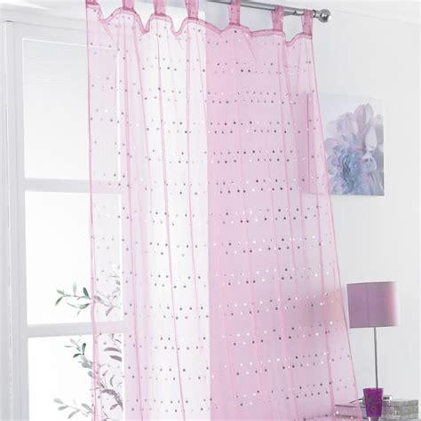 pink sequin curtains daisy sequin tab top voile curtain panel pink