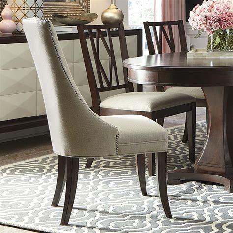 bassett furniture upholstered chairs chestnut brown upholstered sling chair