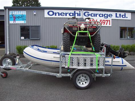 inflatable boats whangarei quad bike and inflatable boat trailer onerahi garage ltd