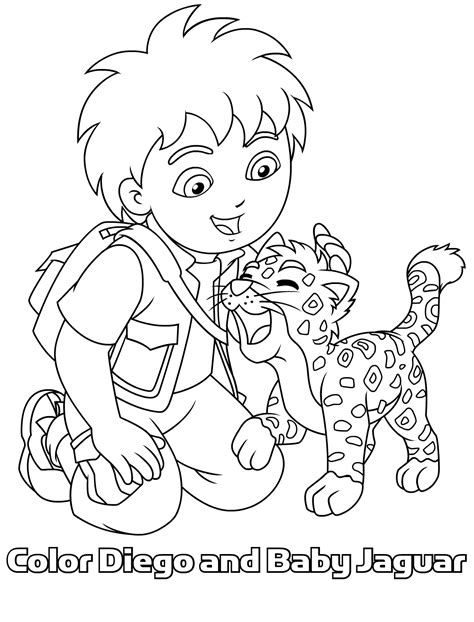 diego coloring pages nick jr free printable diego coloring pages for kids