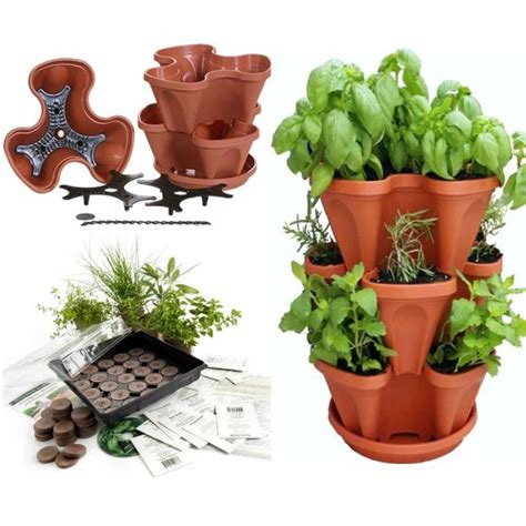 garden stacker planter indoor herbal tea herb garden kit garden stacker planter indoor herbal tea herb garden kit