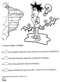Cantinho de História e Geografia: Capitanias Hereditárias