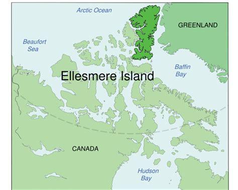 islands in canada map ellesmere island ayles shelf
