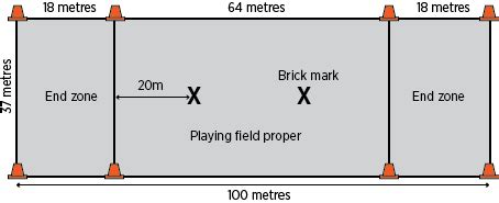 ultimate field layout flying disc