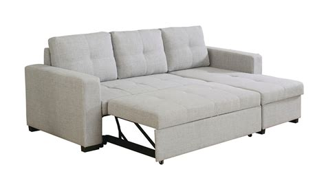 gray sectional with pull out bed everly light grey fabric sofa sectional w pull out bed
