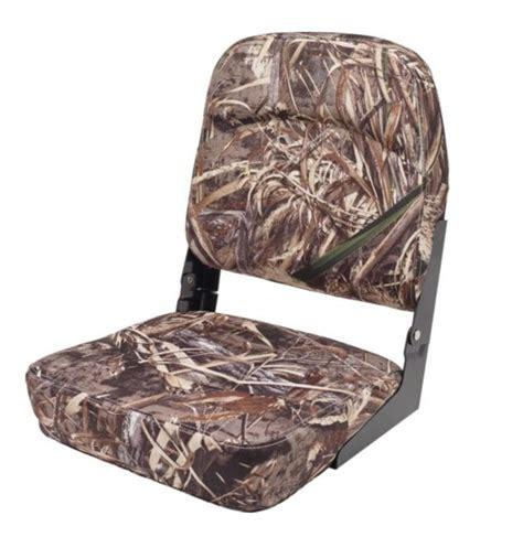 boat seat accessories bass fishing folding boat seats max5 camo fishing bass chair