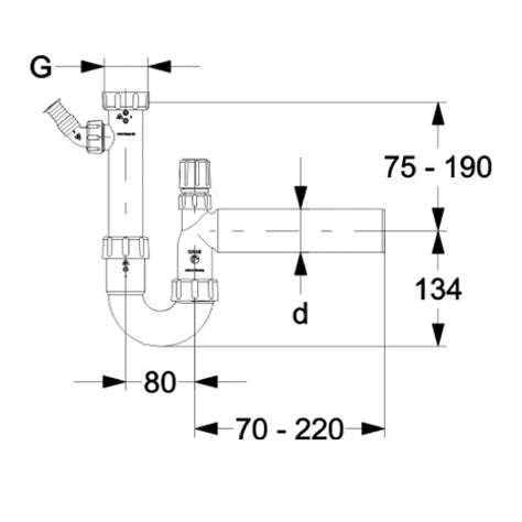 siphon austauschen ablaufgarnitur sp 252 lensiphon dn50 siphon sifon sp 252 le