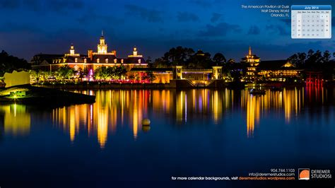 2014 07 July Wallpaper ? American Pavilion Epcot Disney World Fo « Deremer Studios