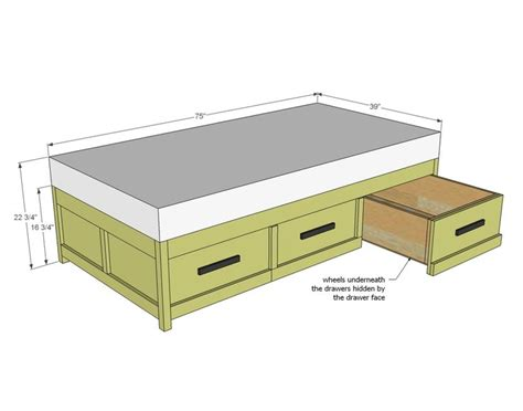 Plans For Building A Bed Frame With Drawers Woodworking A Bed Frame With Drawers