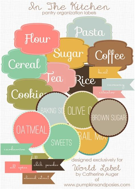 printable kitchen labels free 12 printables for your kitchen pretty free