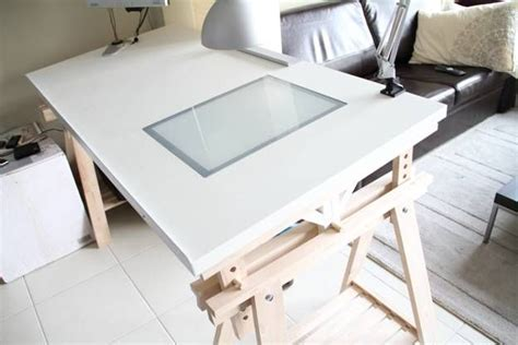 Ikea Drafting Table With Light Box Build Wooden Drawing Desk Ikea Plans Dowel Hardwood