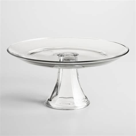 Glass Cake Pedestal glass cake pedestal antique gold cake stand set of 3 glass plate metal dessert