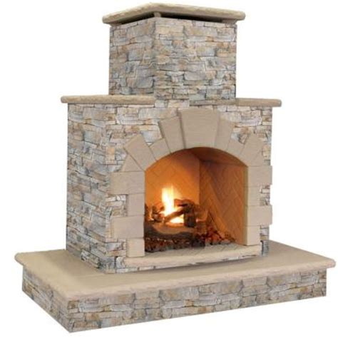 Home Depot Propane Fireplace by Cal 78 In Gray Propane Gas Outdoor