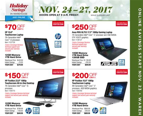 costco black friday 2017 ad find the best costco black
