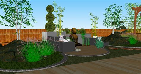 Landscape Architecture Perspective 3d Designs Green Systems