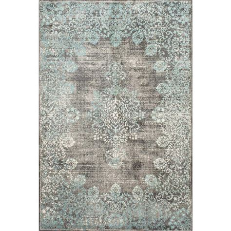9 x 12 area rug nuloom vintage corene blue 9 ft x 12 ft area rug binb03a 9012 the home depot