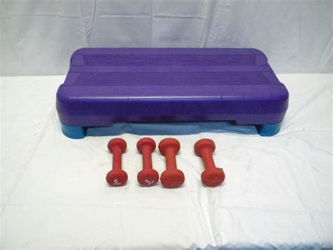 aerobic step stool and weights k a s and stuff