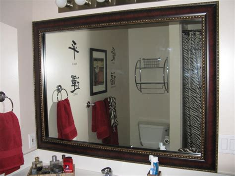 Bathroom Mirror Frame Kits | mirror frame kit traditional bathroom mirrors salt