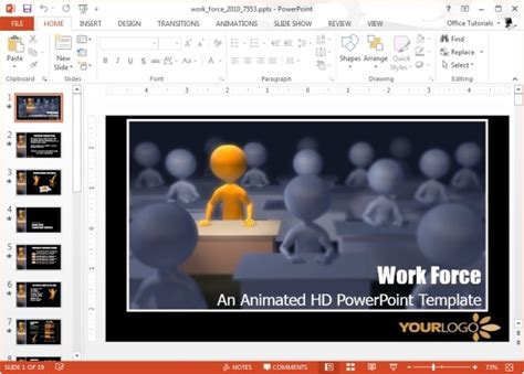 templates powerpoint work animated workplace powerpoint templates