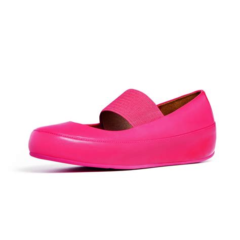 Mj Leather Pink fitflop due mj in soft pink leather fitflop from