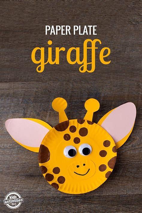Giraffe Paper Plate Craft - best 25 giraffe crafts ideas on diy nails