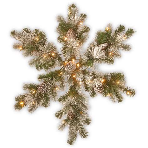 national tree snowy impearial national tree company 32 in snow capped mountain pine snowflake with battery operated led