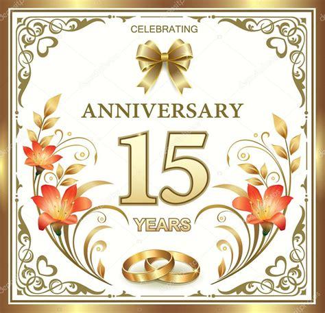 Hochzeit 15 Jahre by 15 Jahre Hochzeit Jahrestag Stockvektor 169 Seriga 77346294