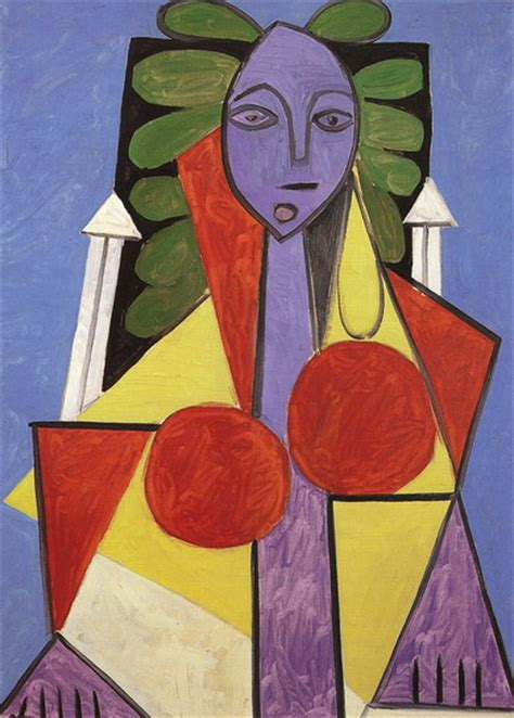 picasso woman in an armchair pablo picasso woman in an armchair fran 231 oise gilot 1946