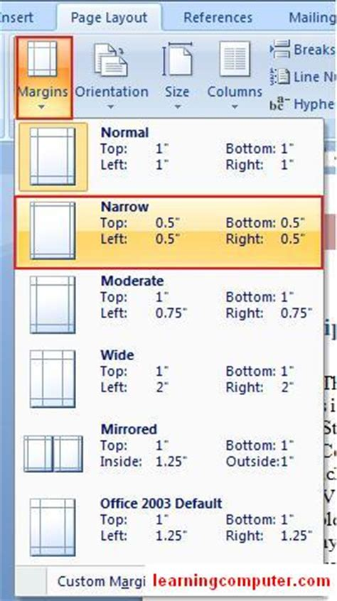 layout microsoft definition microsoft office word 2007 learn the page layout tab in ms