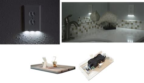 led night light outlet covers this outlet cover can light your way in the dark the