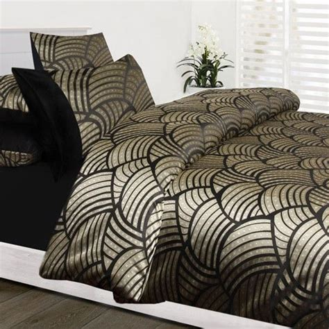 Gold Quilt Cover Sets by Shelley Black Gold Jacquard King King Quilt