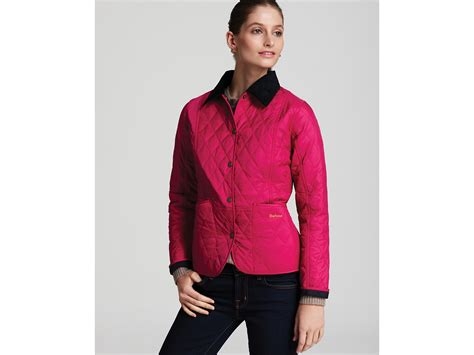 Barbour Pink Quilted Jacket barbour summer liddesdale quilted jacket in pink lyst
