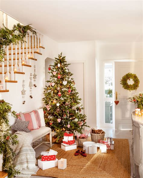 navidad ideas para decorar de verde natural tu recibidor